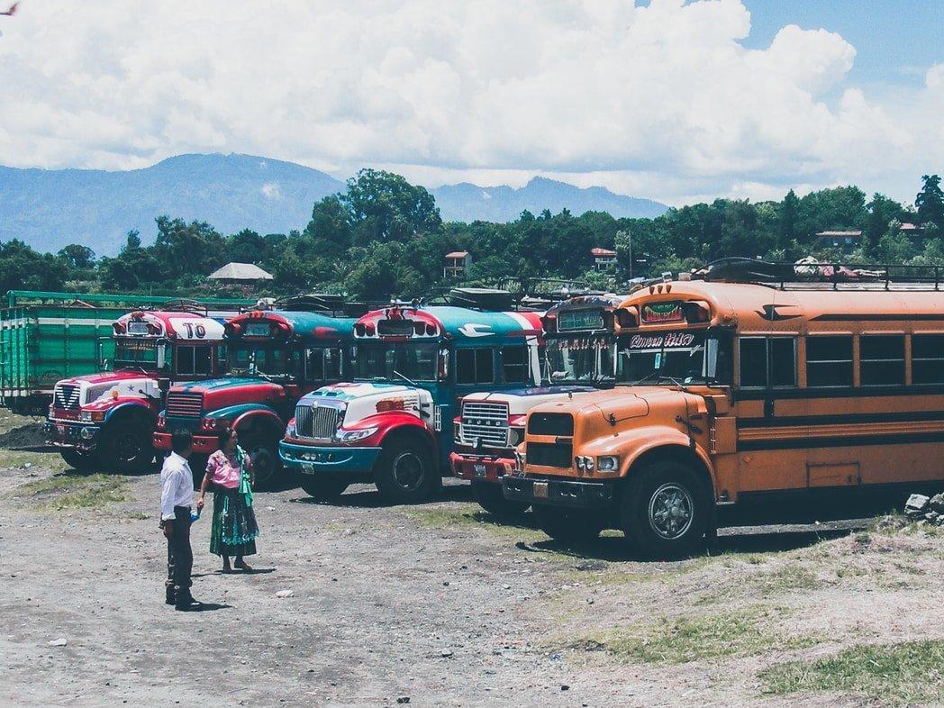 Bus - Lake Atitlán - Guatemala