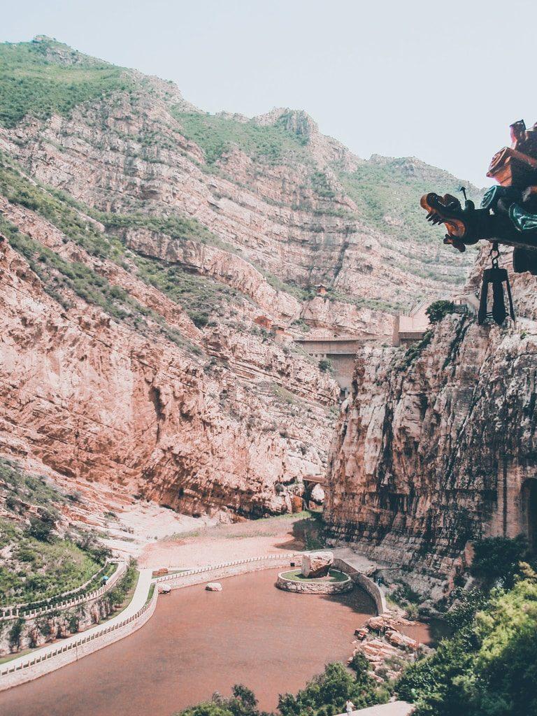 Datong - Chine - vue sur la vallée depuis Xuankong Si