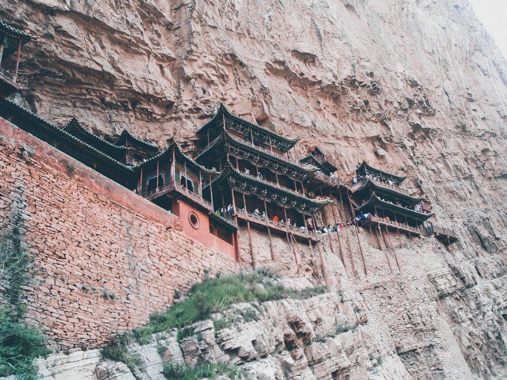 Datong en Chine - temple suspendu de Xuankong Si