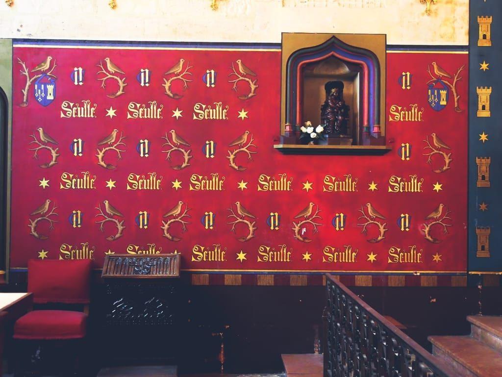 Hospices de Beaune - devise dans la chapelle