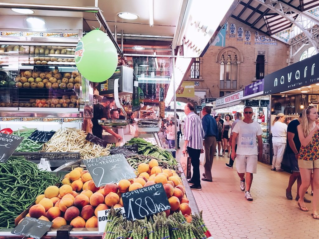 Marché central de Valence - allée