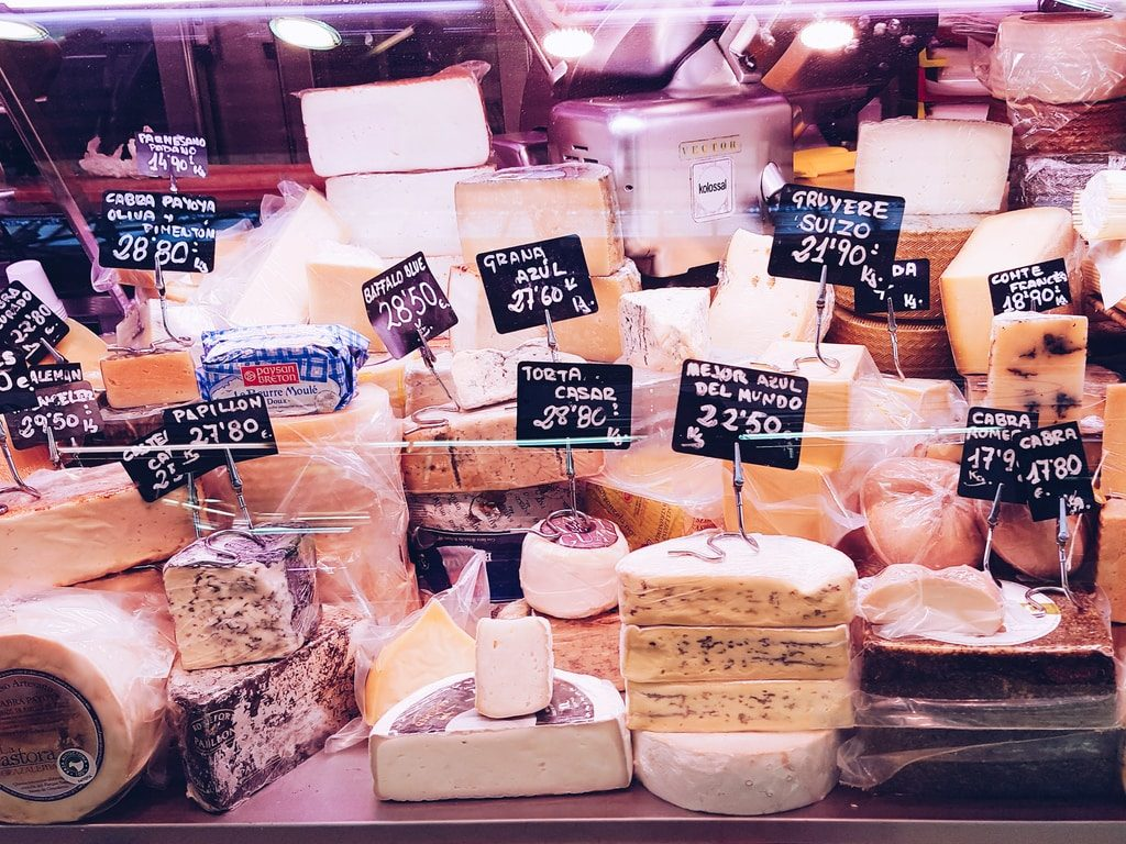 Marché central de Valence - fromage
