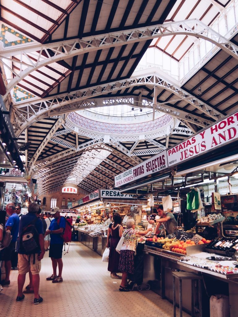 Marché central de Valence - intérieur