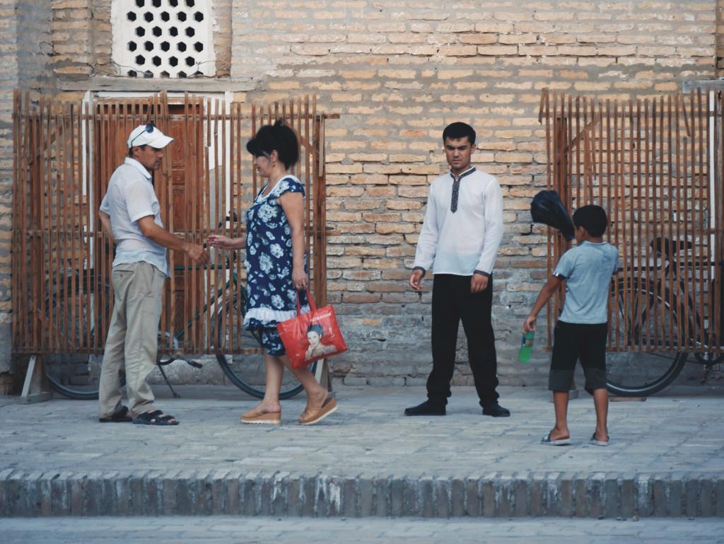 Habitants de Khiva à Itchan Qala