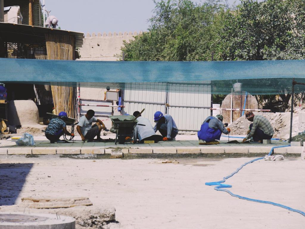 Itchan Qala - Khiva - travailleurs