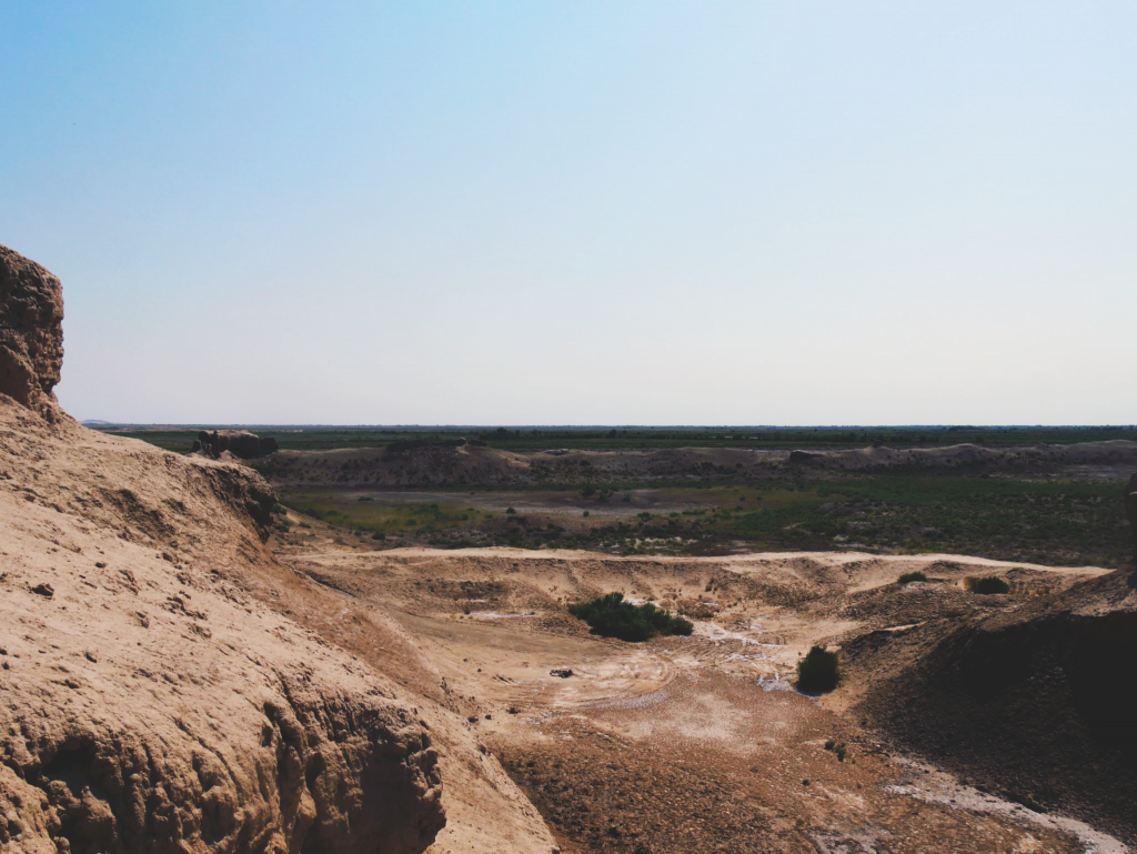 Paysage-depuis-Toprak-Qala-Elliq-Qala-Khiva