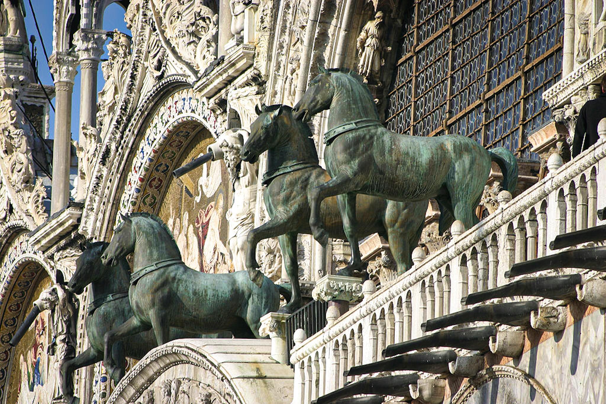 Facade of St. Mark's Basilica - St. Mark's Horses