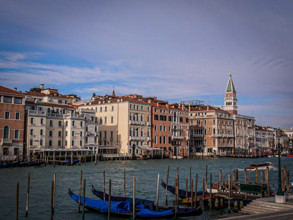 Grand Canal in Venice - gondolas