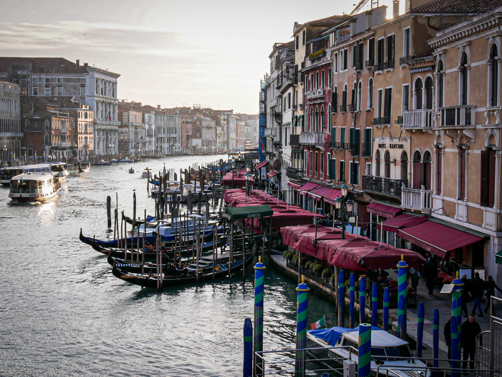 Grand Canal of Venice - view of the Rialto