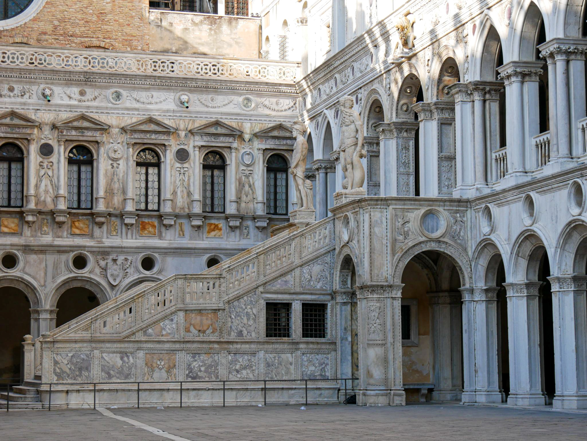 Giants' Staircase in the Doge's Palace in Venice
