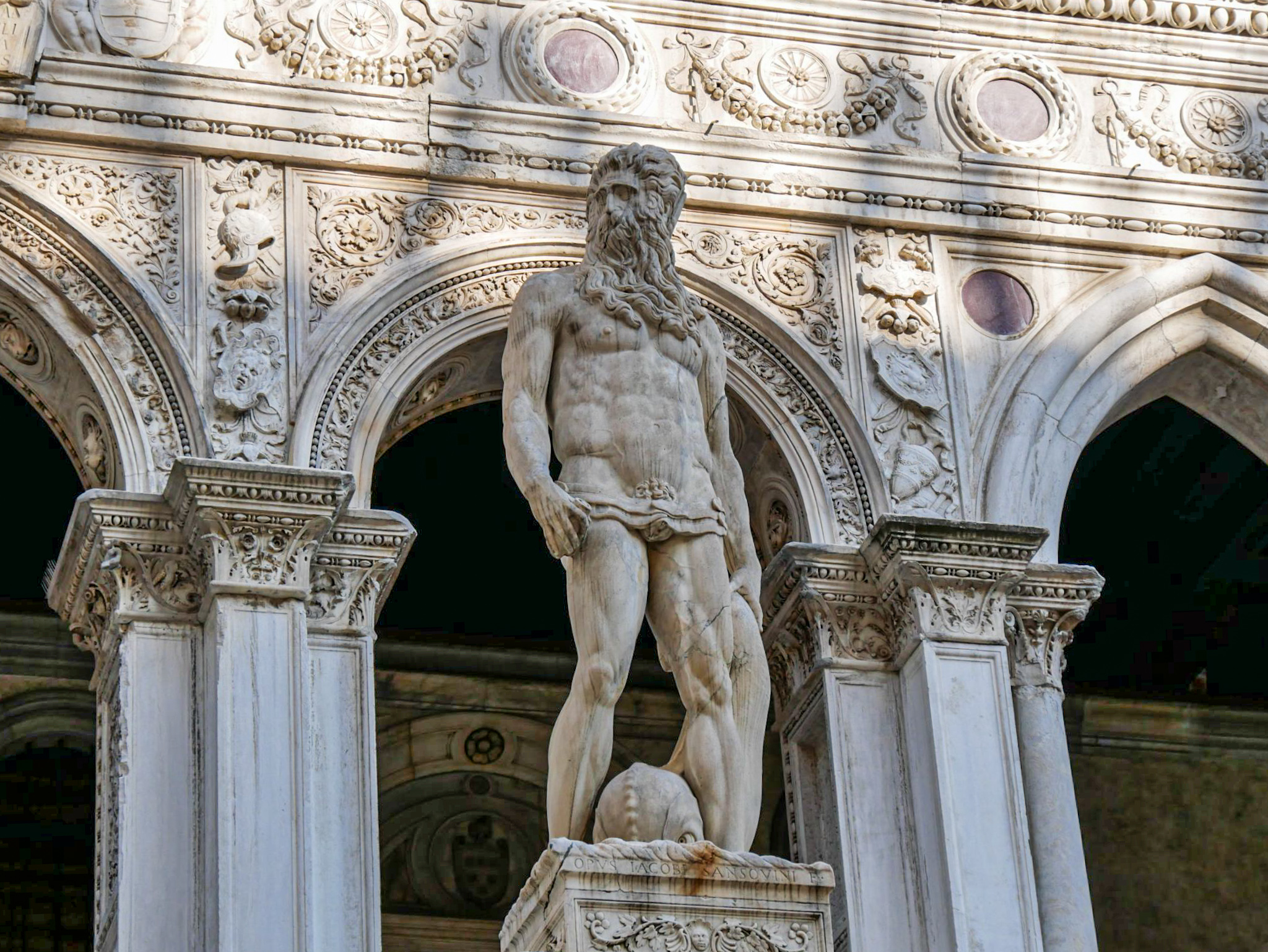 Statue of Neptune - Giants' Staircase in the Doge's Palace in Venice