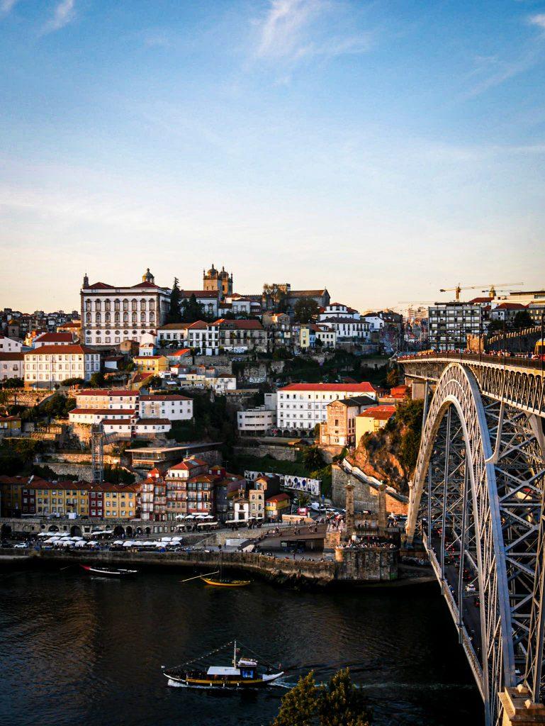 Porto depuis le Pont Dom Luis - coucher du soleil