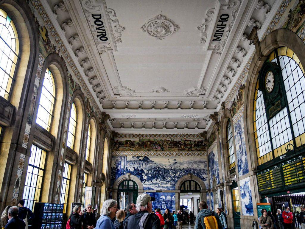 Gare de São Bento Porto - salle des pas perdus