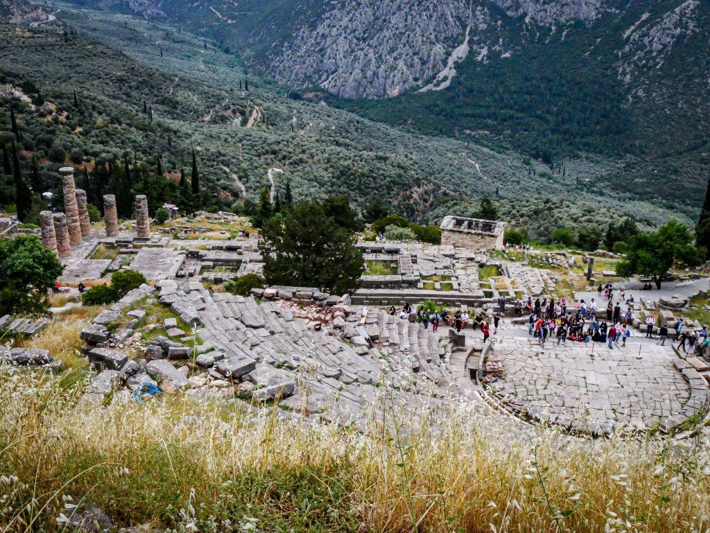 Delphes - théâtre - Grèce