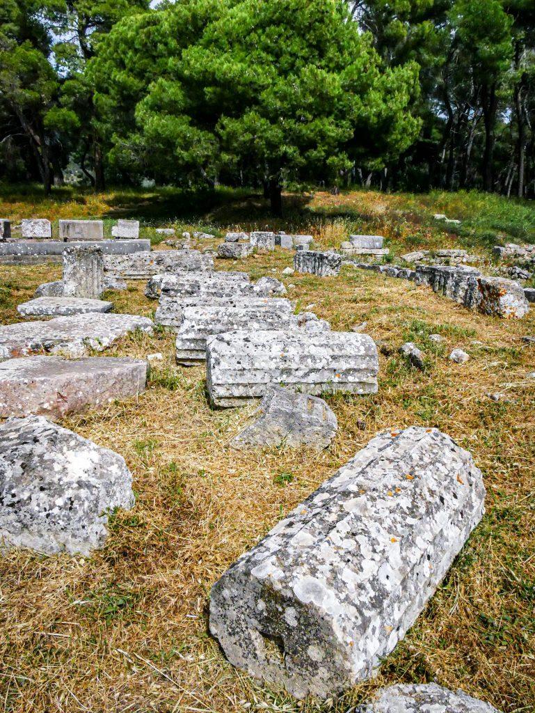 Épidaure - Sanctuaire d'Asclépios - colonnes