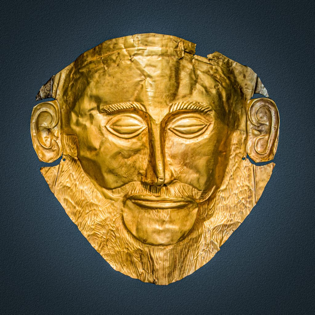 Masque d'Agamemnon Mycènes