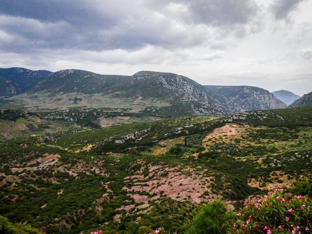 Panorama depuis Ossios Loukas
