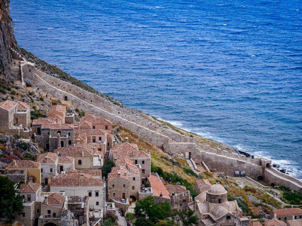 Vue sur la vieille ville - Monemvasia - Grèce