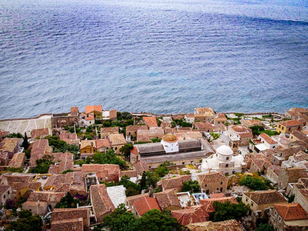 Vue sur la ville basse - Monemvasia - Grèce