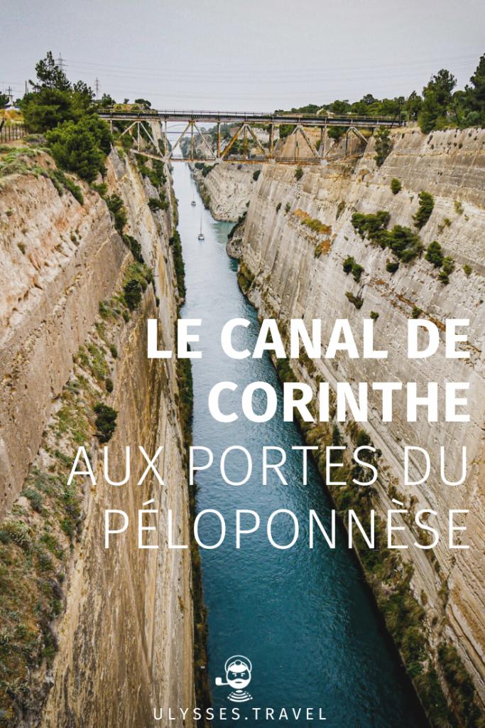 Canal de Corinthe - Pinterest