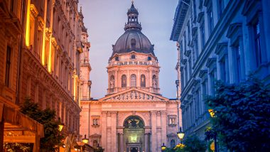 St. Stephen's Basilica in Pest - Budapest - sunset