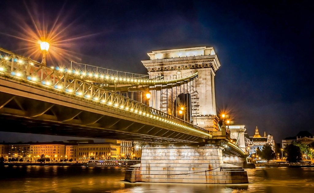 Budapest - Széchenyi Chain Bridge at night