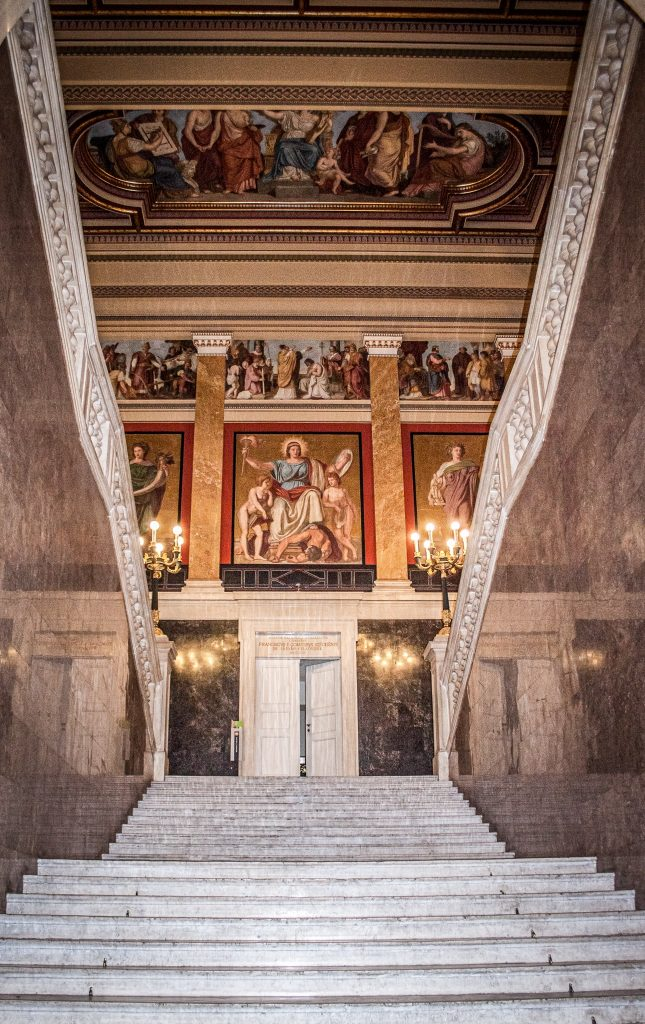 Main staircase - Hungarian National Museum - Budapest