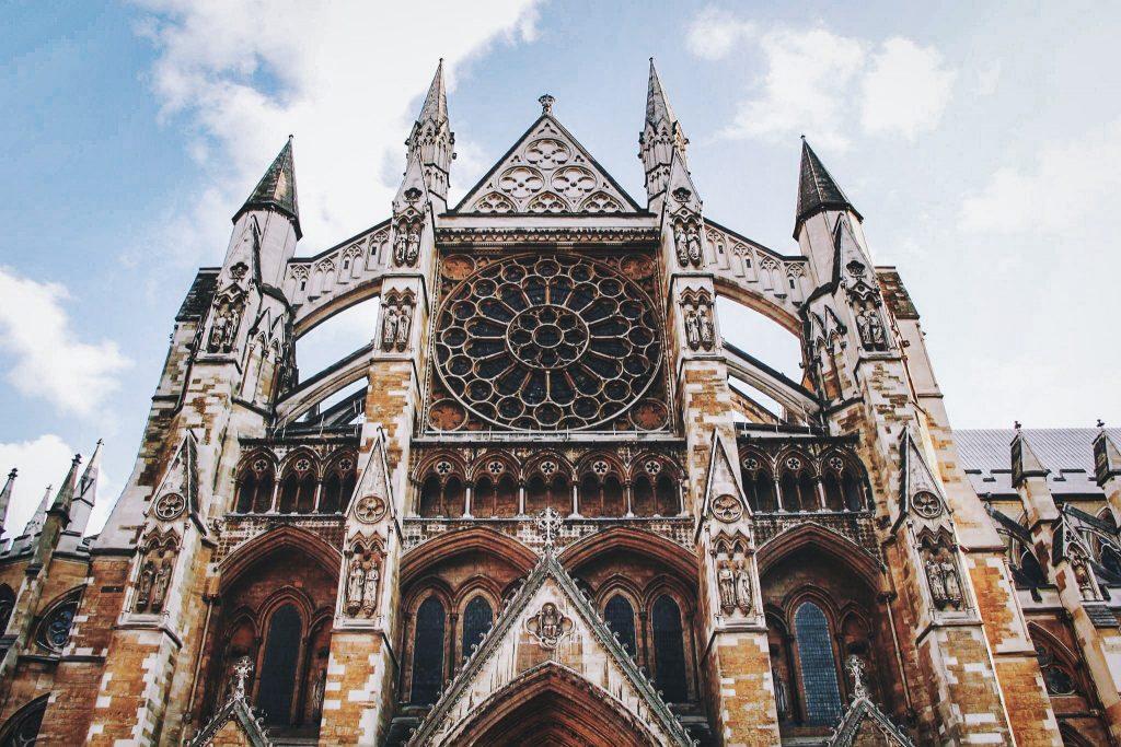 Façade de l'Abbaye de Westminster - Londres