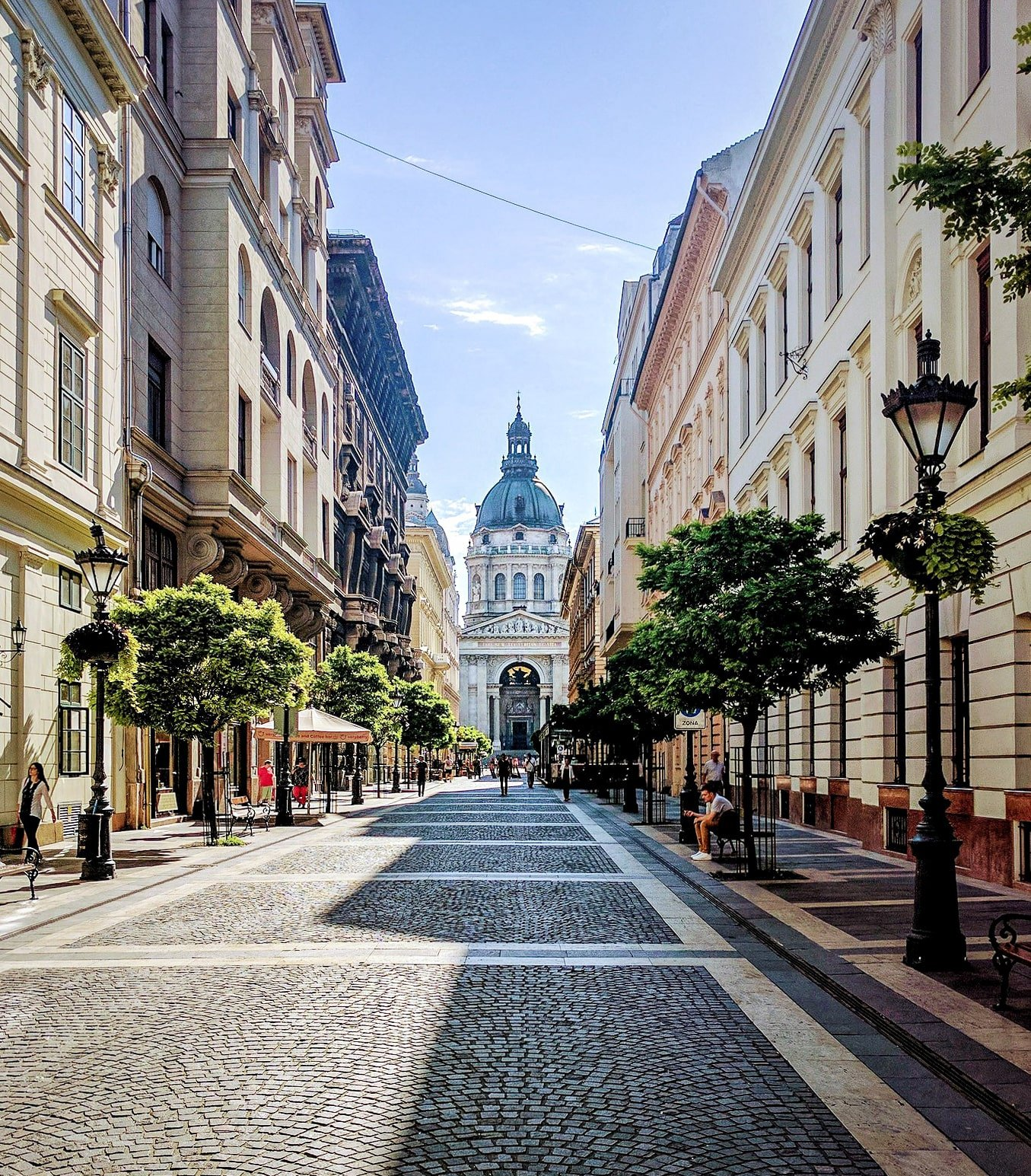 View of St. Stephen's Basilica in Pest - Budapest