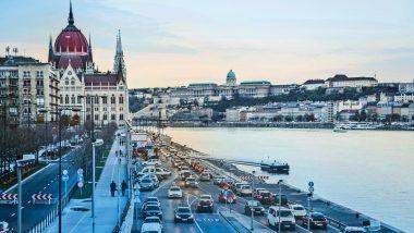Vue sur le Parlement hongrois de Budapest