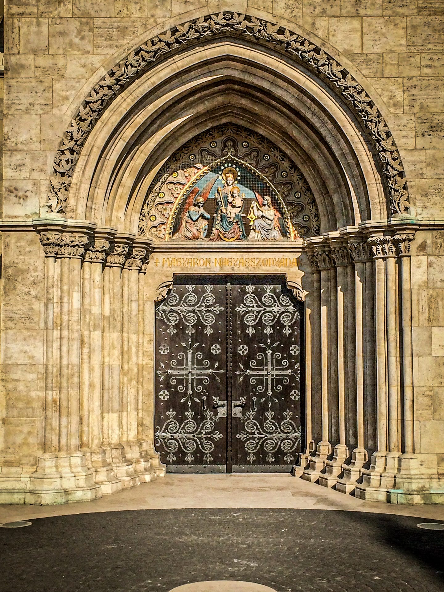 Coronation Church of Buda (Matthias Church) - tympanum