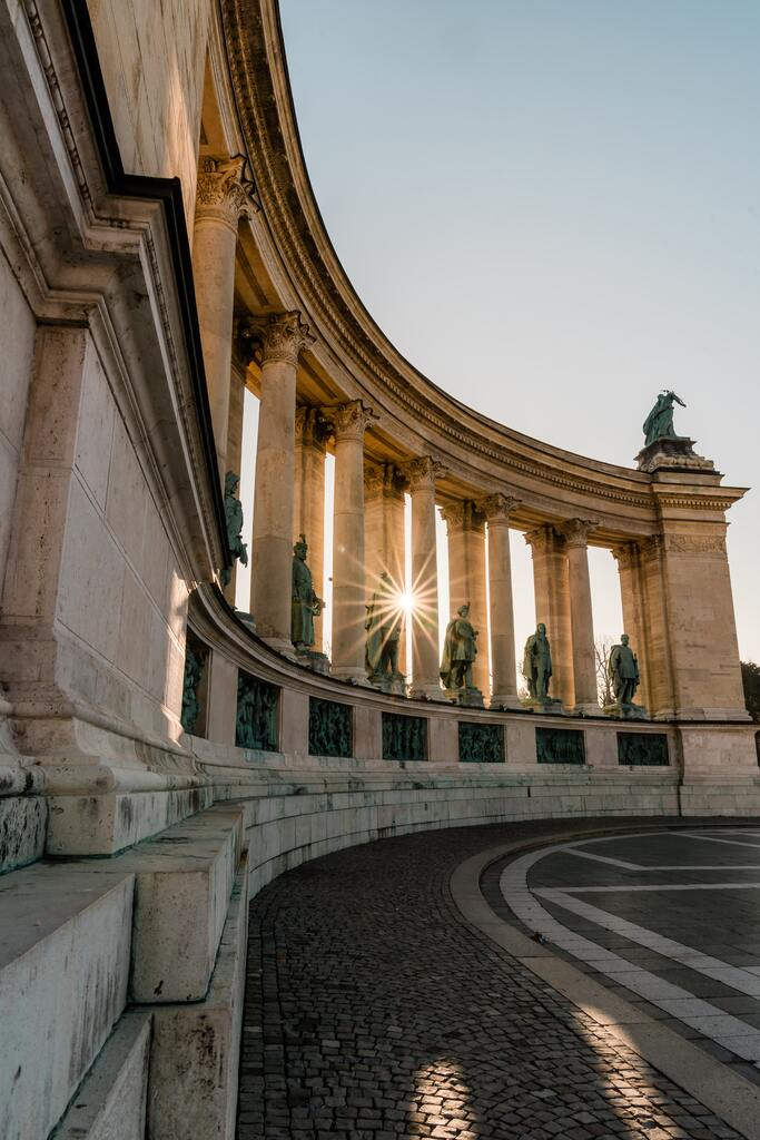 Heroes' Square - Budapest - Colonnade