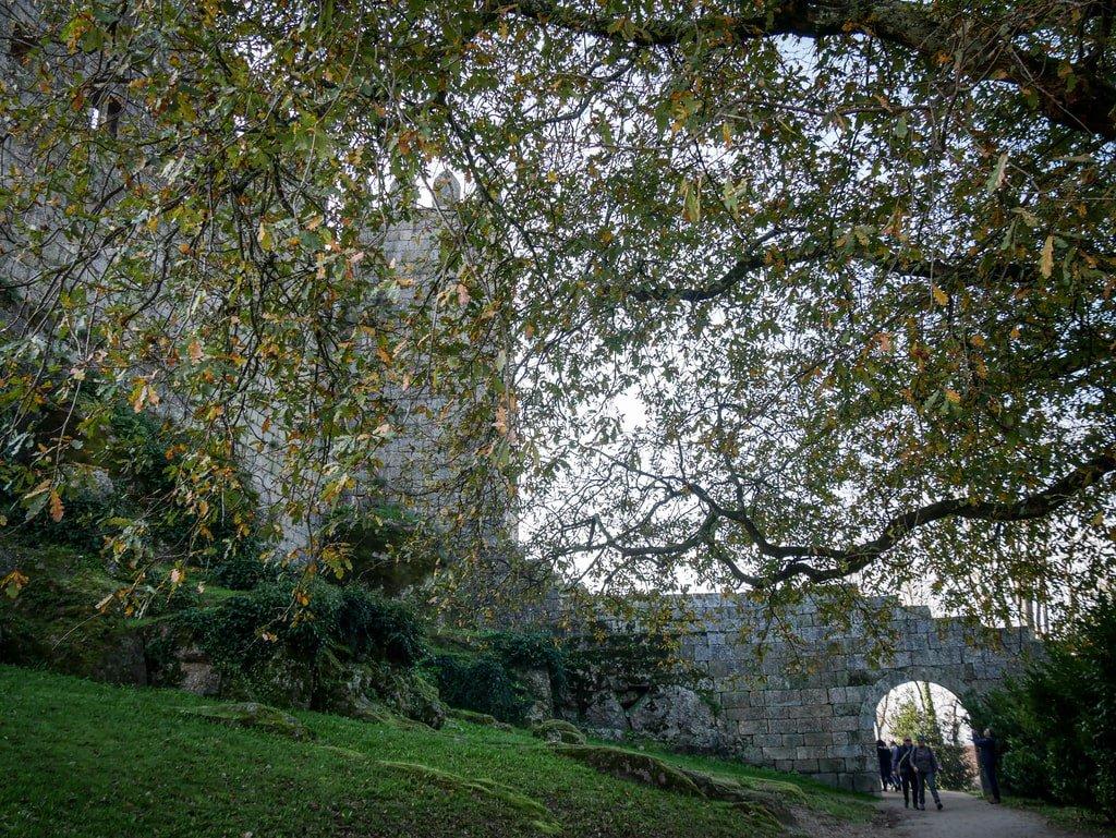 Vue sur le Château de Guimarães depuis l'extérieur