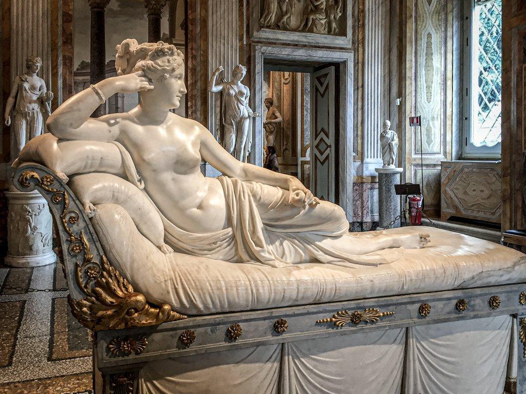 Galerie Borghèse - Statue de Pauline Borghèse par Antonio Canova