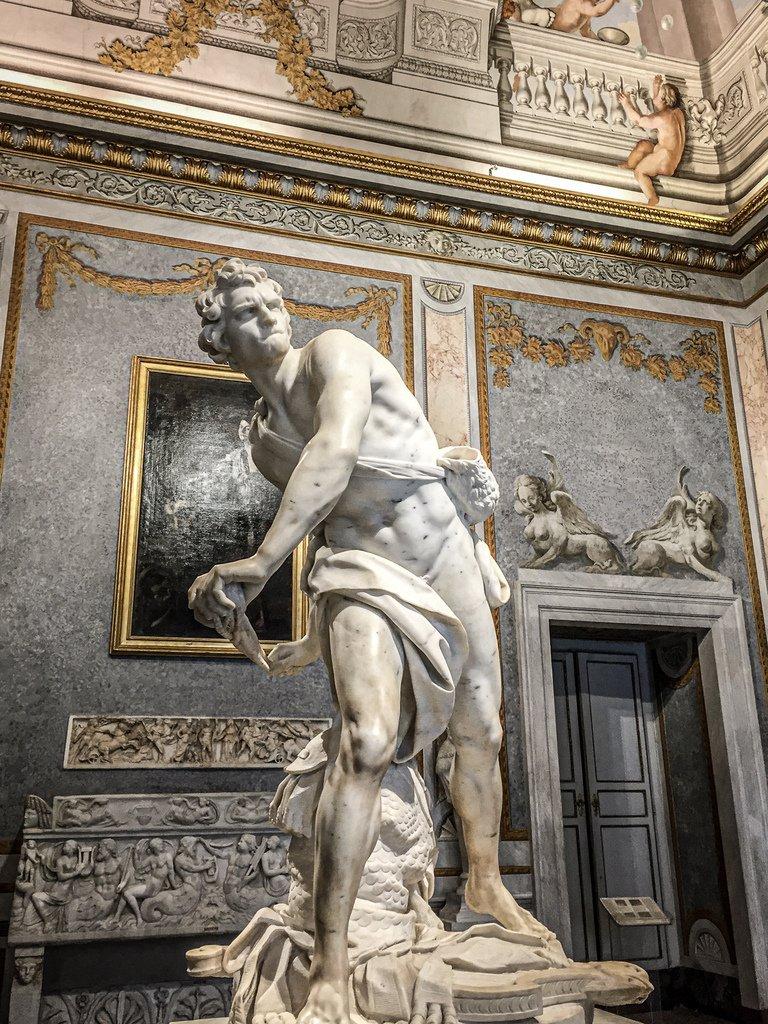 Galerie Borghèse - statue - Le Bernin
