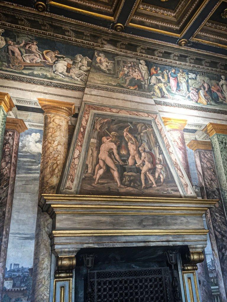 Villa Farnesina - Salle des Perspectives - Vulcain