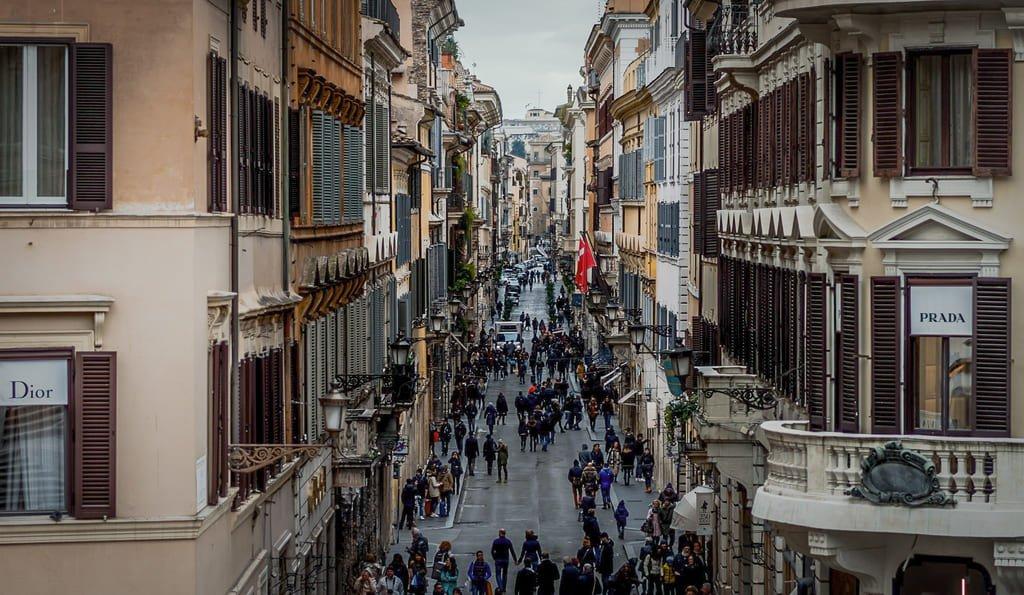 Rue commerçante - Piazza di Spagna