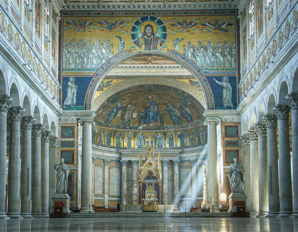 Basilique Saint-Paul-Hors-les-Murs - arc triomphal