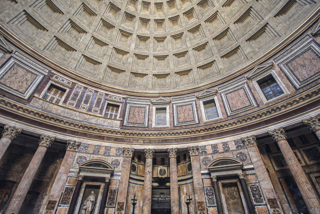 Panthéon - coupole à caissons