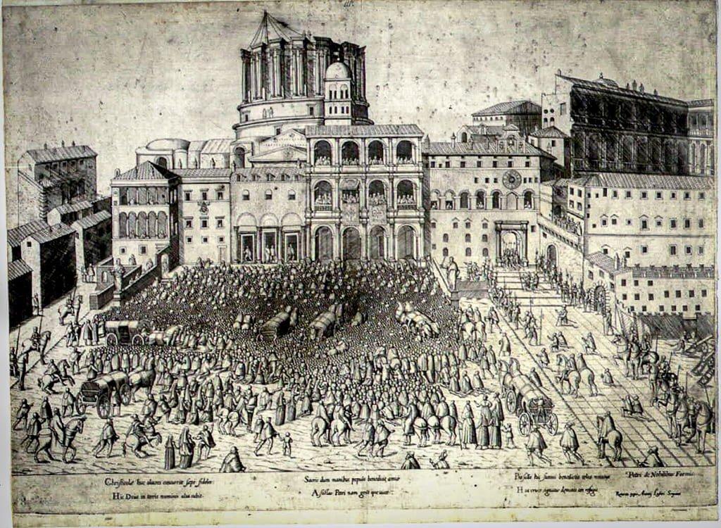 Place Saint-Pierre en 1600 - Rome